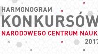 Harmonogram konkursów NCN [pdf]